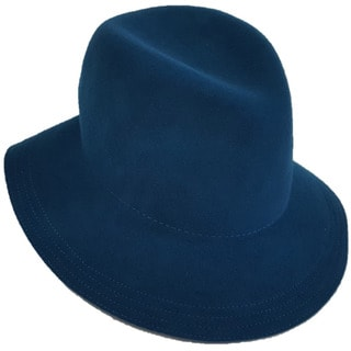 Hatch Back Band Packable Wool Felt Fedora Hat