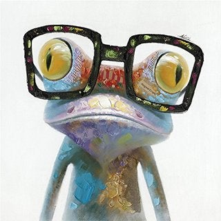 Hipster Froggy I Original Hand Painted Wall Art