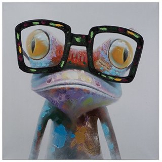 Hipster Froggy Original Hand Painted Wall Art