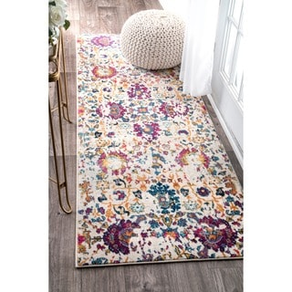 nuLOOM Vintage Distressed Floral Runner Rug (2'8 x 8')
