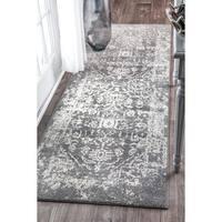 nuLOOM Vintage Inspired Oriental Grey Runner Rug