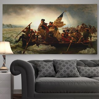 Emanuel Gottlieb Leutze 'Washington Crossing the Delaware' Premium Gallery-wrapped Canvas Art