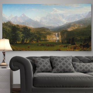 'The Rocky Mountains, Lander's Peak' Premium Gallery Wrapped Canvas