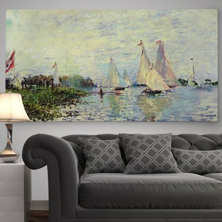 Wexford Home 'Regattas at Argenteuil' Premium Gallery-wrapped Canvas Wall Art