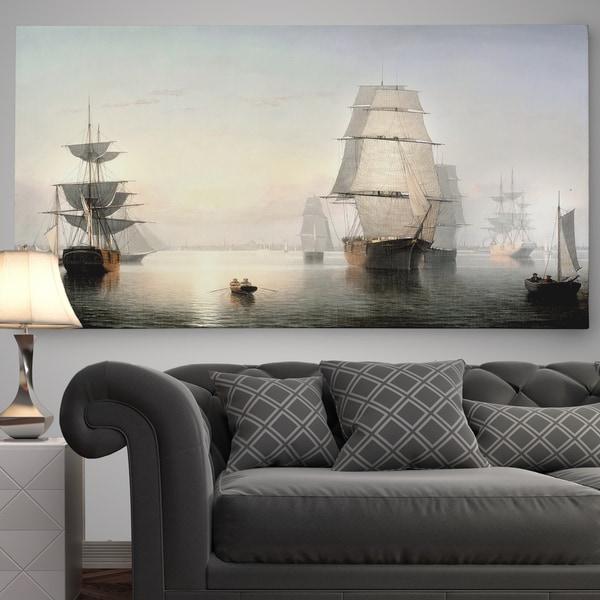 'Boston Harbor' Premium Gallery Wrapped Canvas