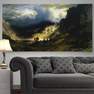 'A Storm in the Rocky Mountains, Mt. Rosalie' Premium Gallery Wrapped Canvas