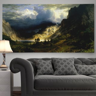 'A Storm in the Rocky Mountains, Mt. Rosalie' Premium Gallery Wrapped Canvas (3 options available)