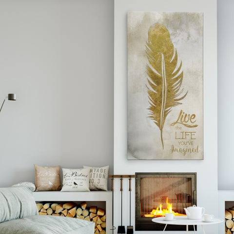 'Feather Live' Premium Gallery Wrapped Canvas