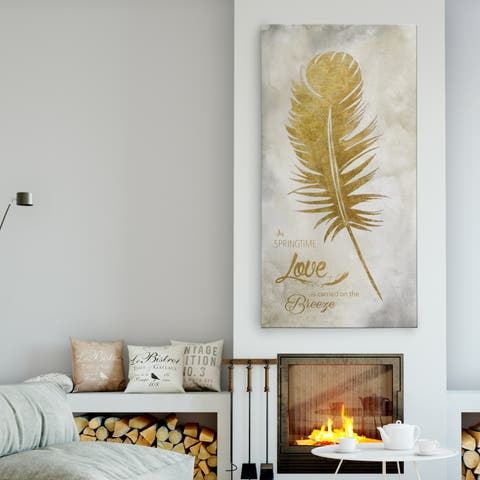 'Feather Love' Premium Gallery Wrapped Canvas
