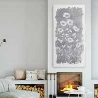 'Fields of Silver III' Premium Gallery Wrapped Canvas