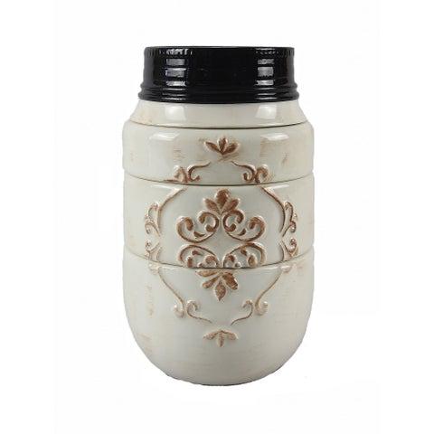 Mason Jar White Ceramic 4-piece Stacking Measuring Cups
