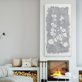 'Fields of Silver II' Premium Gallery Wrapped Canvas