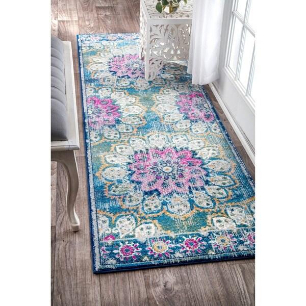 Nuloom Crandall Turquoise Area Rug Reviews: Shop NuLOOM Vintage Floral Mandala Turquoise Runner Rug