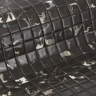Zen Black Marble 12 x 19 Glass Mosaic (CASE OF 13)