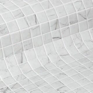 Zen Carrara 12 x 19 Glass Mosaic (CASE OF 13)