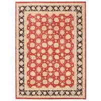 Herat Oriental Afghan Hand-knotted Vegetable Dye Kashan Wool Rug (9'10 x 13'7)
