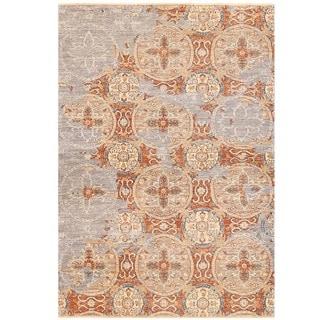 Herat Oriental Afghan Hand-knotted Vegetable Dye Khotan Wool Rug (3'10 x 5'5)