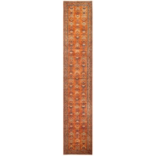 Herat Oriental Afghan Hand-knotted Vegetable Dye Turkoman Wool Runner (2'11 x 15'2)
