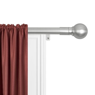"""Maytex Smart Rods Easy-install Extendable Drapery Rod (48 to 120-inch) (Option: 48"""" to 120"""" - Brushed nickel)"""