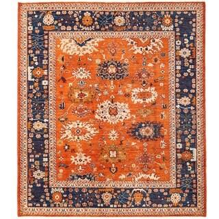 Herat Oriental Afghan Hand-knotted Vegetable Dye Mahal Wool Rug (8'6 x 9'9)