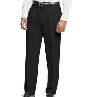 Affinity Apparel Men's Pleated Pants in Black - 36 (As Is Item). Opens flyout.