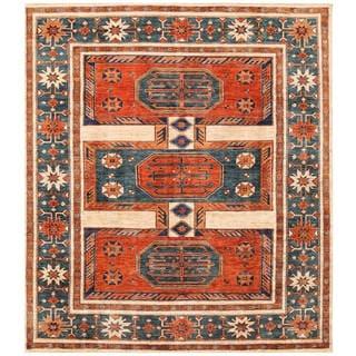 Handmade One-of-a-Kind Vegetable Dye Turkoman Wool Rug (Afghanistan) - 8'2 x 9'5