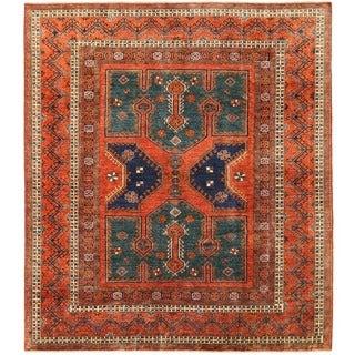Herat Oriental Afghan Hand-knotted Vegetable Dye Turkoman Wool Rug (8'4 x 9'7)
