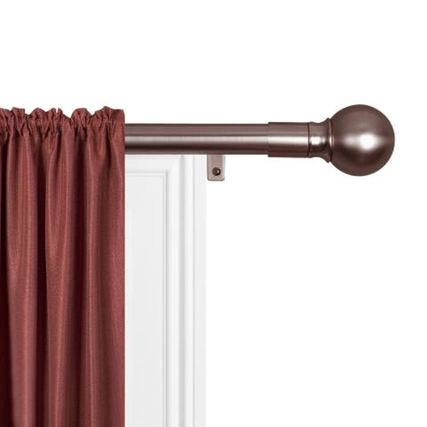 Maytex Smart Rods Easy-install Extendable Drapery Rod - 18 - 48 inches
