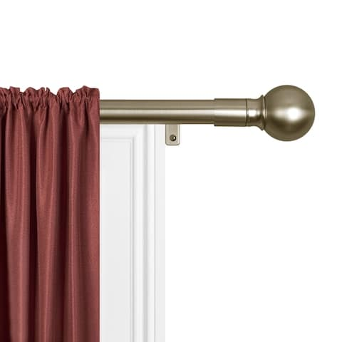 Maytex Smart Rods Easy-install Extendable Drapery Rod - 18 - 48 inches - 18 - 48 inches