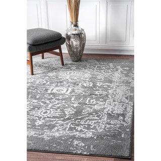 nuLOOM Vintage Inspired Oriental Grey Rug  (5' x 7'5)