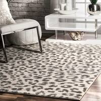 "nuLOOM Modern Grey Leopard Spotted Rug  (5' x 7'5) - 5' x 7'5"""