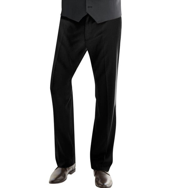 Affinity Apparel Men's Flat-front Pants