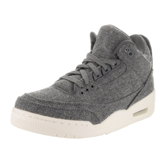 Nike Jordan Men's Air Jordan 3 Retro Grey Wool Basketball Shoes