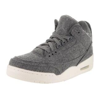 Nike Jordan Men's Air Jordan 3 Retro Grey Wool Basketball Shoes