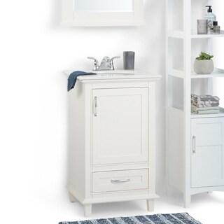 WYNDENHALL Newton White Bath Vanity with White Quartz Marble Top