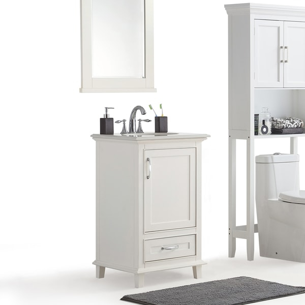 sink cabinets for kitchen wyndenhall newton white bath vanity with white quartz 5275