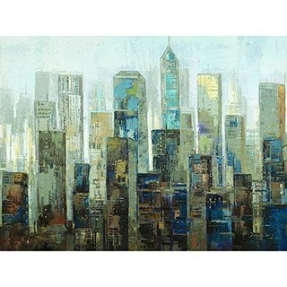 City in the Chill Original Hand Painted Wall Art