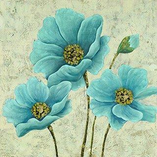 Blue in Bloom Original Hand Painted Wall Art