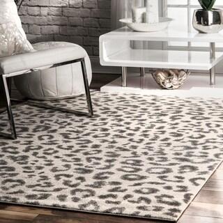 nuLOOM Grey Modern Leopard Spotted Area Rug