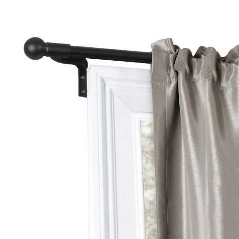 Maytex Smart Rods Easy Install No Measuring Window Cafe Rod
