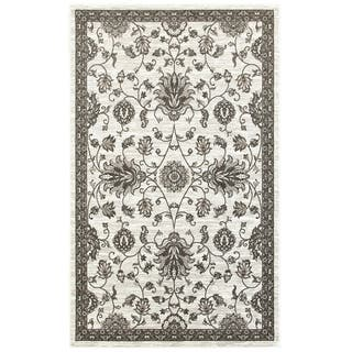 L and R Home Adana White/Brown Olefin Indoor Runner Rug (1'10 7'1) - 2' x 7'|https://ak1.ostkcdn.com/images/products/14333198/P20911983.jpg?impolicy=medium