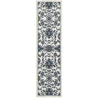 L and R Home Adana White and Blue Olefin Indoor Runner Rug (2' x 7'1)|https://ak1.ostkcdn.com/images/products/14333244/P20911977.jpg?impolicy=medium