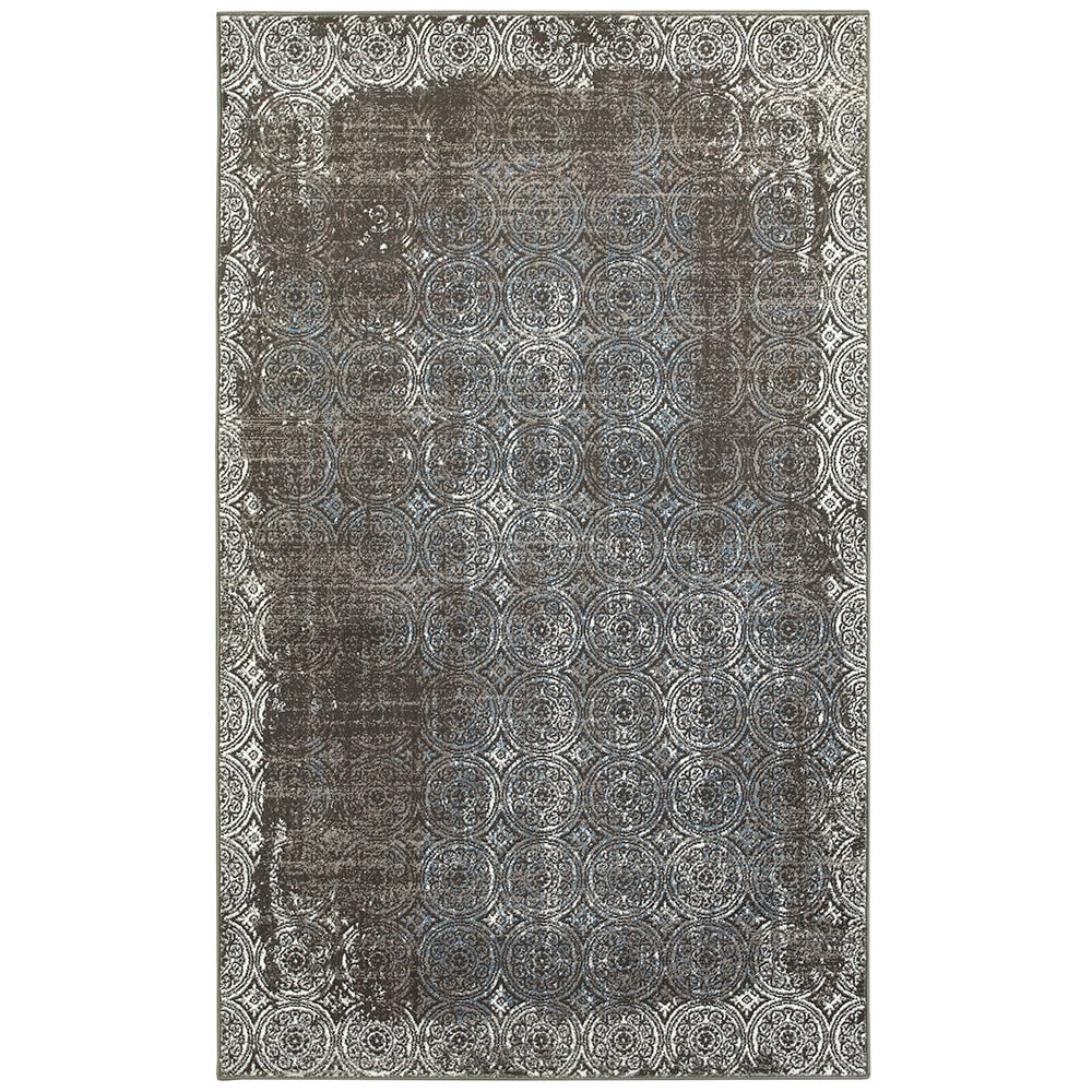 L and R Home Adana Brown/ White Olefin Indoor Runner Rug ...