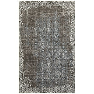 L and R Home Adana Brown/ White Olefin Indoor Runner Rug - 2' x 7'