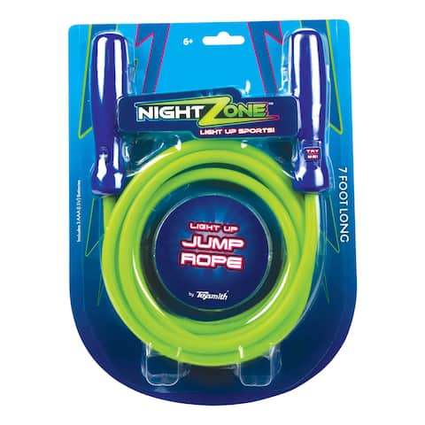 Toysmith Nightzone Green or Purple Light-up Jump Rope