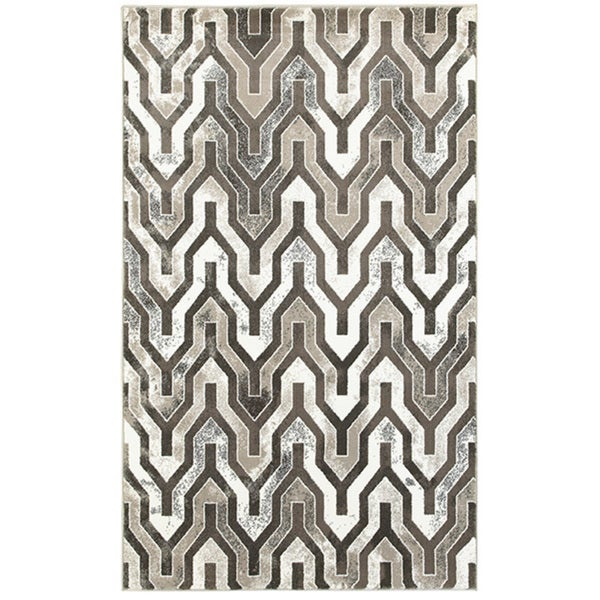 L and R Home Adana Beige/Brown Olefin Indoor Runner Rug ( 1'10 x 7'1) - 2' x 7'