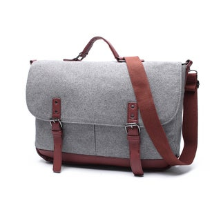 Extra Large Wool Laptop Messenger Bag