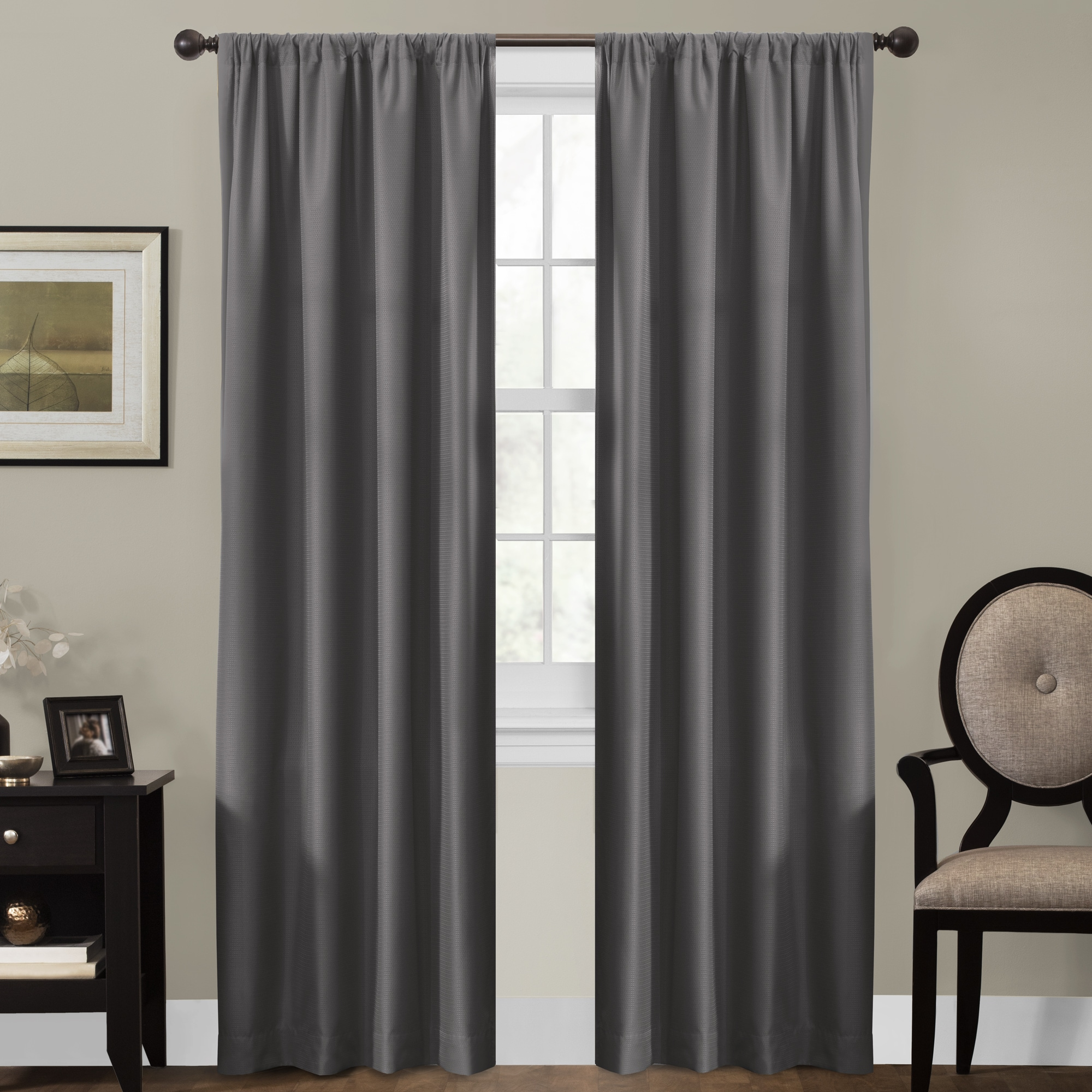 decor window single lined grommet room panel shop allen curtains treatments inch darkening drapes curtain winbourne blinds pl lowes roth polyester thermal at home com