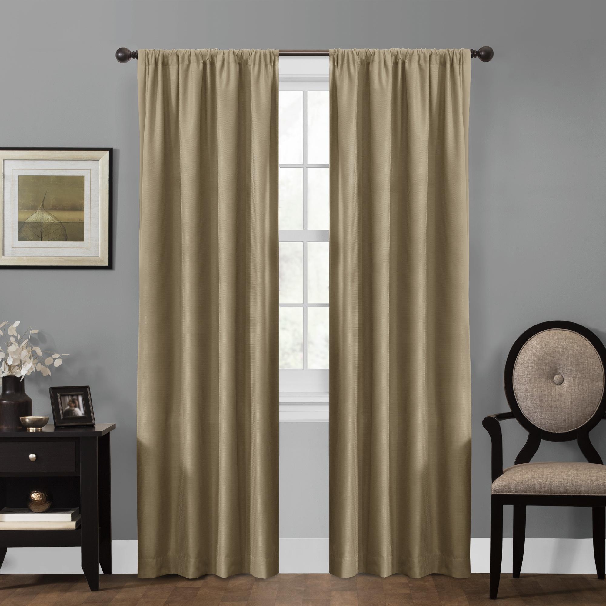 maytex smart curtains julius 100 percent blackout window curtain panel 50 x 84 ebay. Black Bedroom Furniture Sets. Home Design Ideas