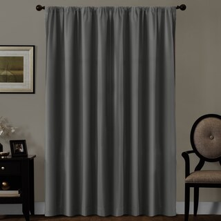 Maytex Smart Curtains Julius 100 Percent Blackout Window Curtain Panel - 50 X 84
